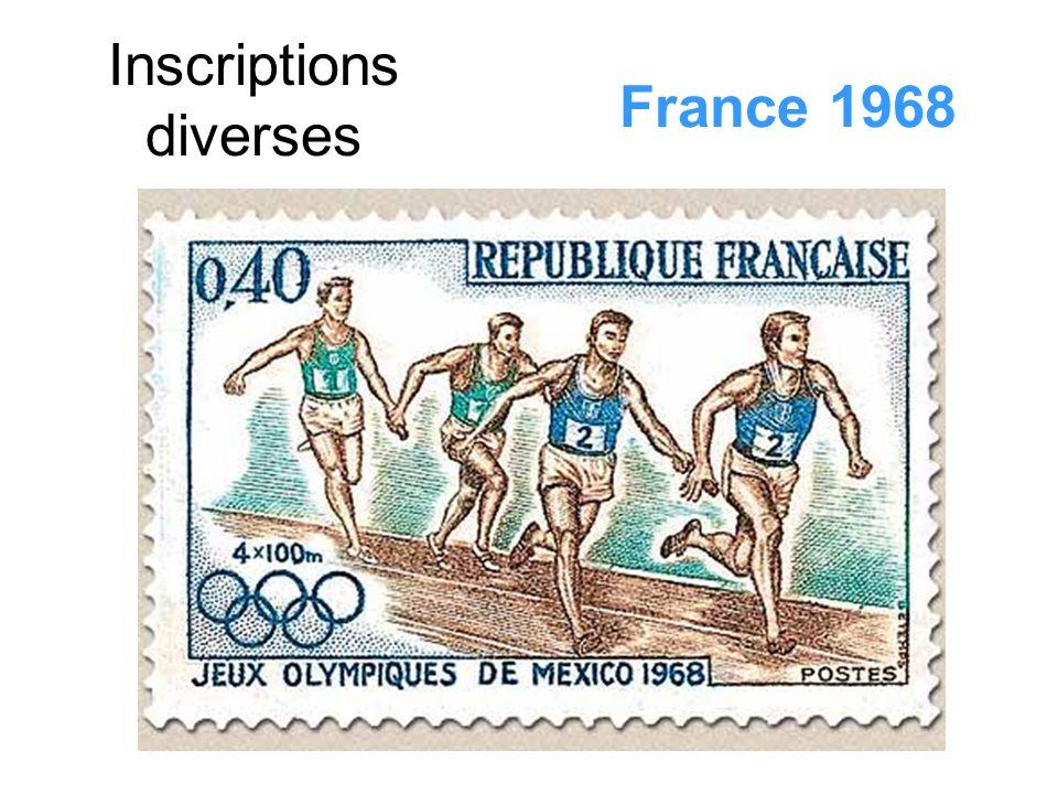 Inscriptions diverses France 1968