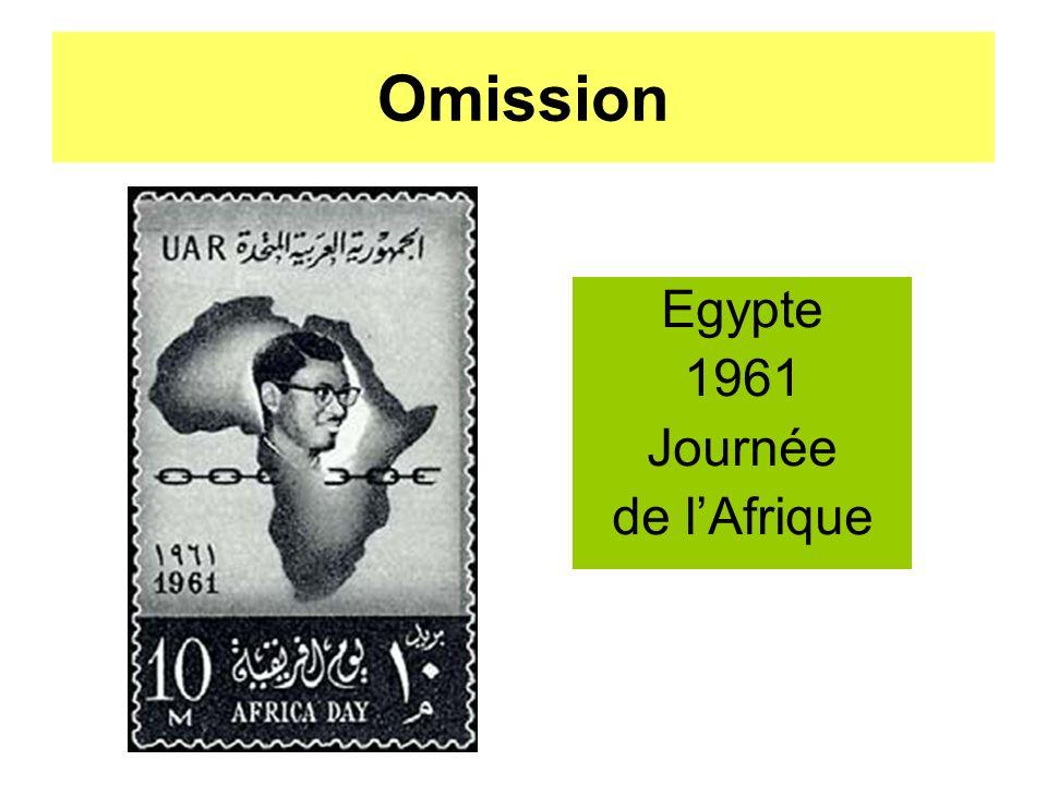 Omission Egypte 1961 Journée de lAfrique