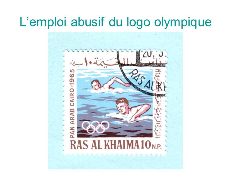Lemploi abusif du logo olympique