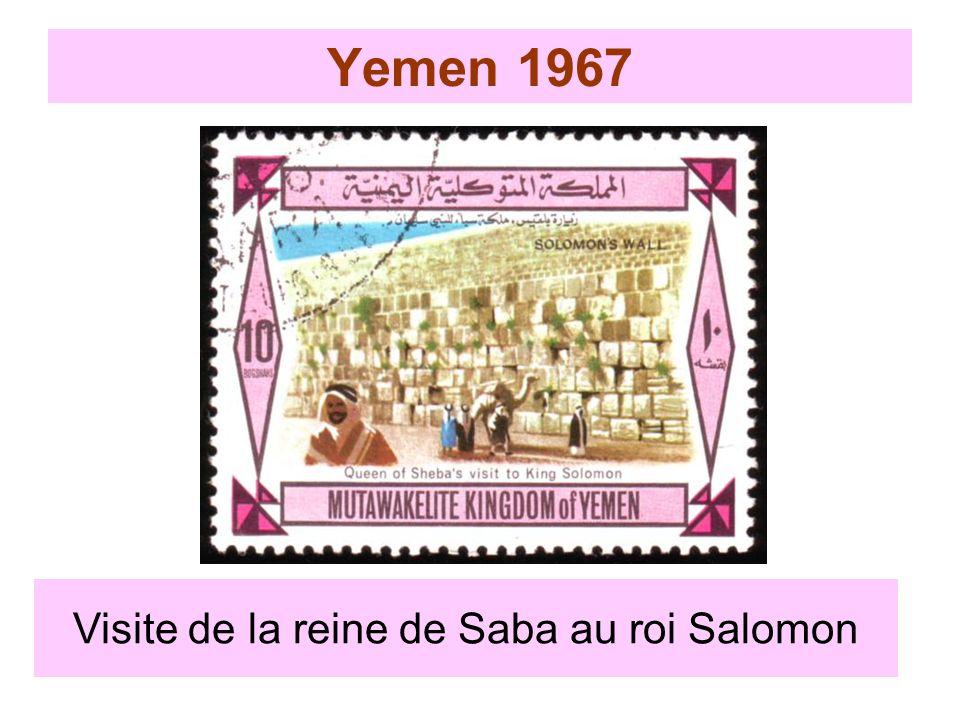 Yemen 1967 Visite de la reine de Saba au roi Salomon