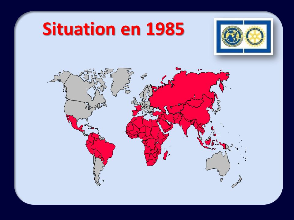 Situation en 1985