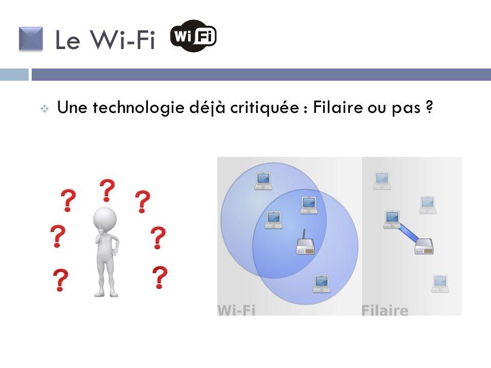 Une technologie déjà critiquée : Filaire ou pas ? Le Wi-Fi