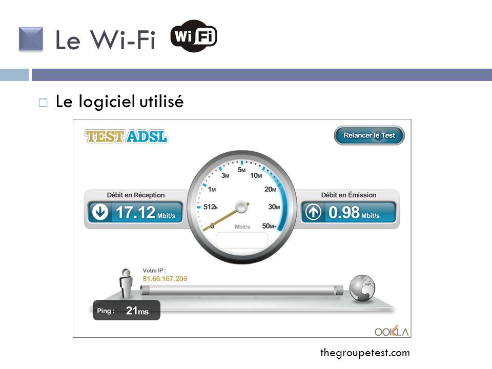Le logiciel utilisé Le Wi-Fi thegroupetest.com