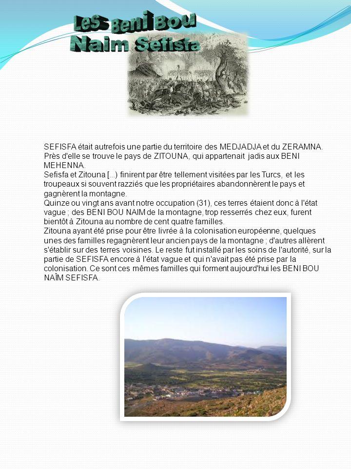 SEFISFA était autrefois une partie du territoire des MEDJADJA et du ZERAMNA.