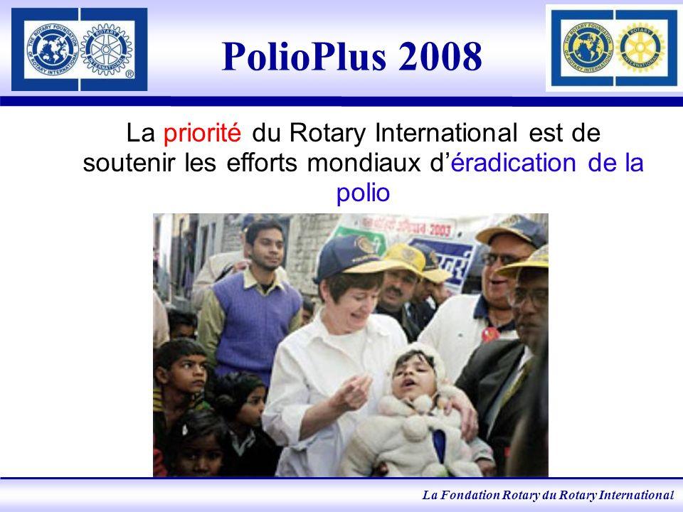 La Fondation Rotary du Rotary International Février 2008 Impact du virus type 1, Uttar Pradesh, Indes Sept.