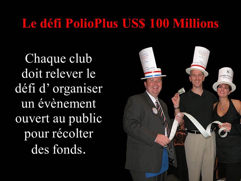 La Fondation Rotary du Rotary International Chaque club doit relever le défi d organiser un évènement ouvert au public pour récolter des fonds.