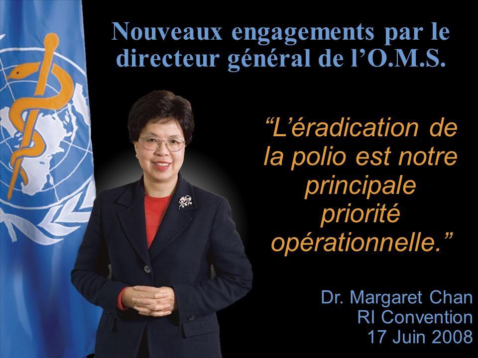 La Fondation Rotary du Rotary International Léradication de la polio est notre principale priorité opérationnelle.