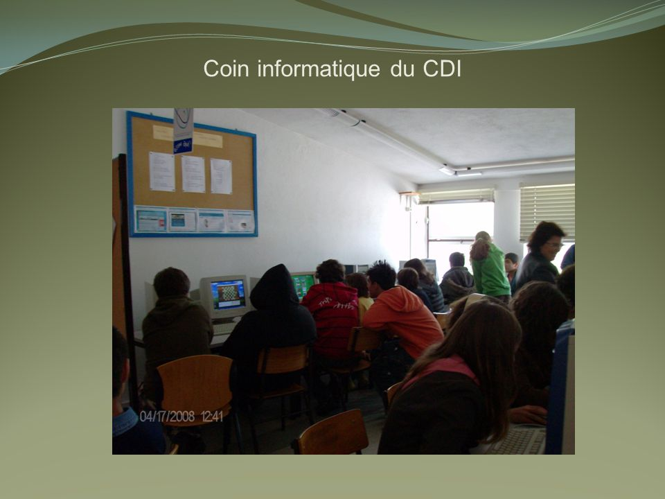 Coin informatique du CDI
