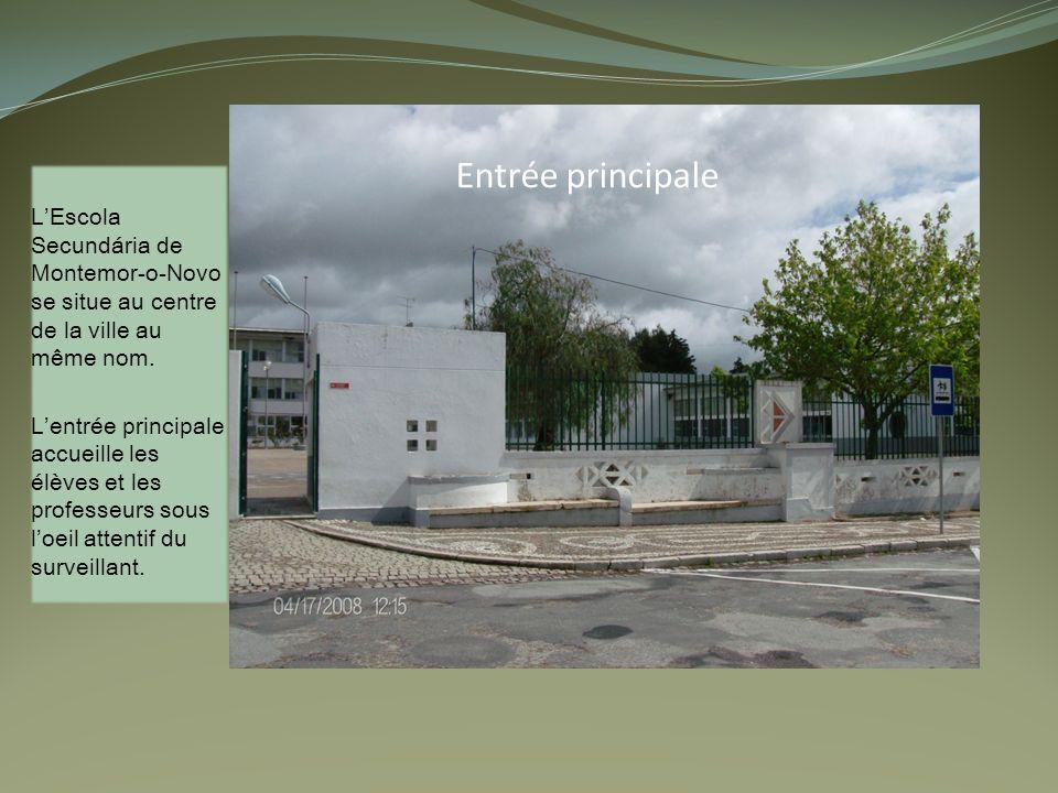 Entrée principale LEscola Secundária de Montemor-o-Novo se situe au centre de la ville au même nom.