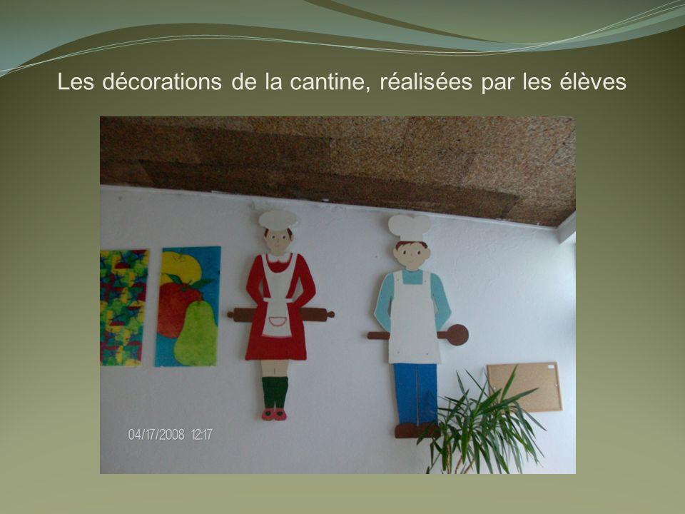 Les décorations de la cantine, réalisées par les élèves