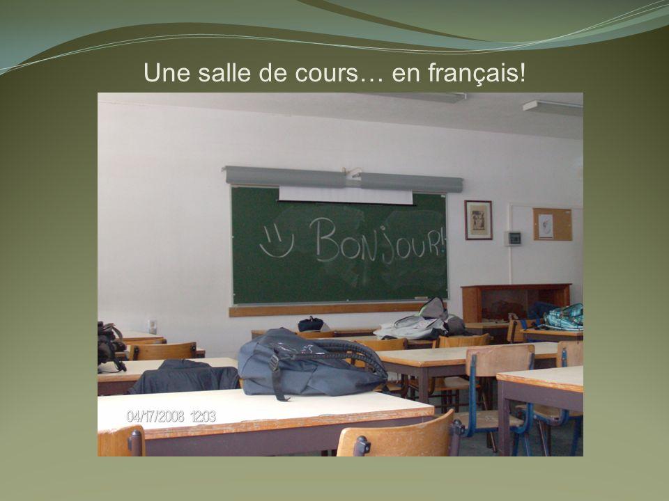 Une salle de cours… en français!