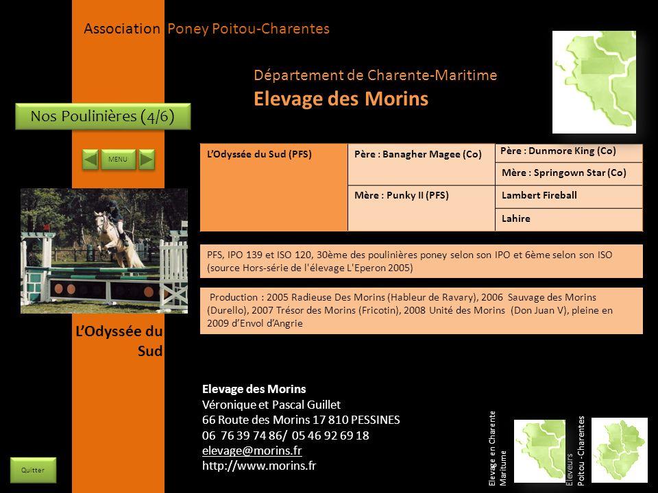 APPC Présidente Lynda JOURDAIN La Gravière 79400 AUGE 06 27 34 23 78 Association Poney Poitou-Charentes Nos Poulinières (4/6) LOdyssée du Sud (PFS)Pèr
