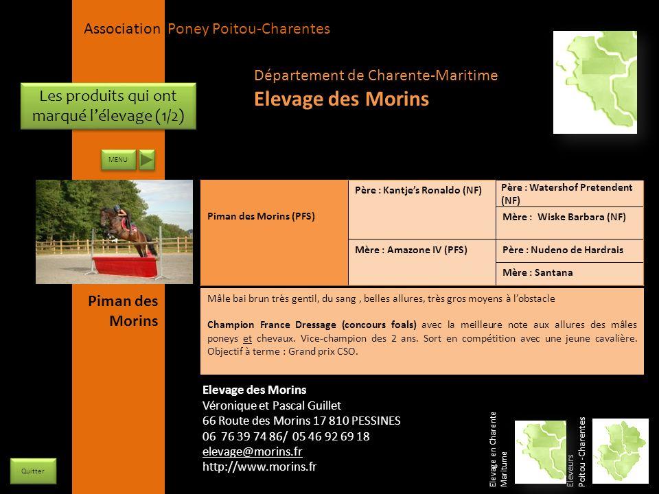 APPC Présidente Lynda JOURDAIN La Gravière 79400 AUGE 06 27 34 23 78 Association Poney Poitou-Charentes Les produits qui ont marqué lélevage (1/2) Pim