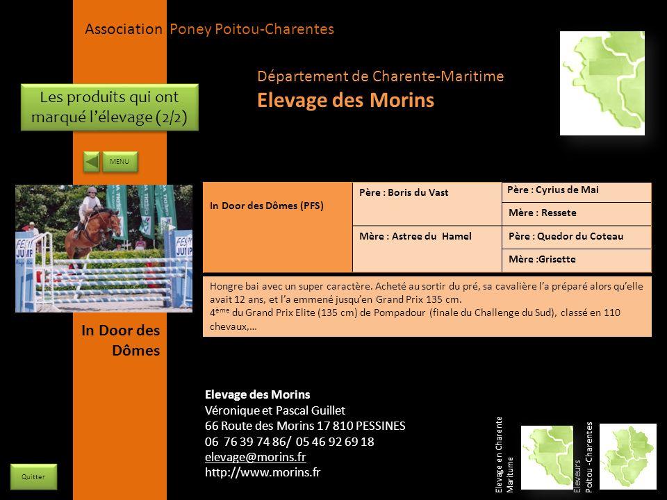 APPC Présidente Lynda JOURDAIN La Gravière 79400 AUGE 06 27 34 23 78 Association Poney Poitou-Charentes Les produits qui ont marqué lélevage (2/2) In