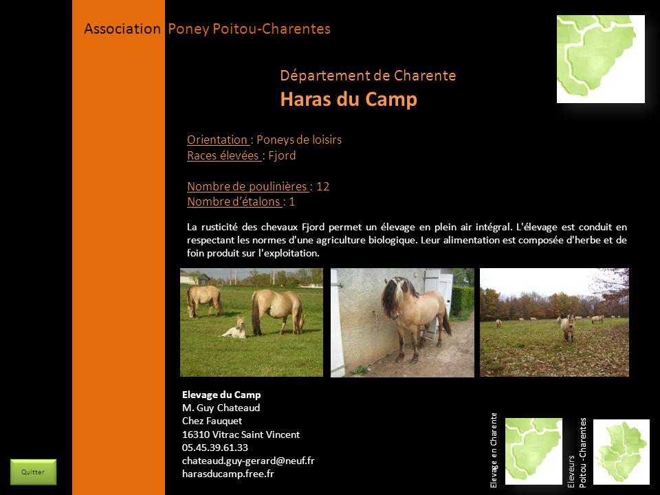 APPC Présidente Lynda JOURDAIN La Gravière 79400 AUGE 06 27 34 23 78 Association Poney Poitou-Charentes Orientation : Poneys de loisirs Races élevées