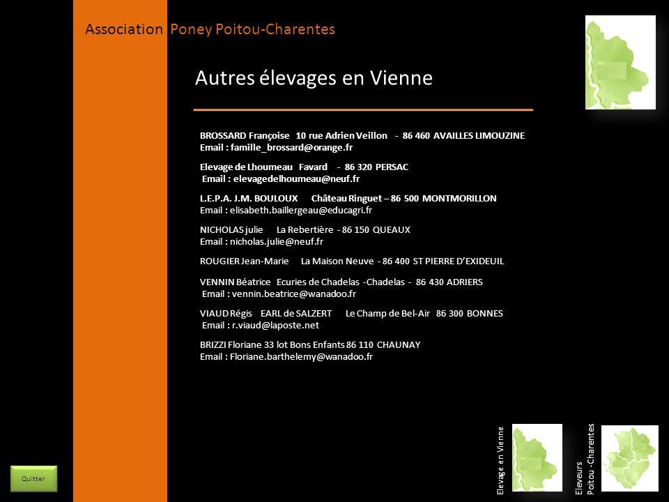 APPC Présidente Lynda JOURDAIN La Gravière 79400 AUGE 06 27 34 23 78 Association Poney Poitou-Charentes Autres élevages en Vienne Elevage en Vienne El