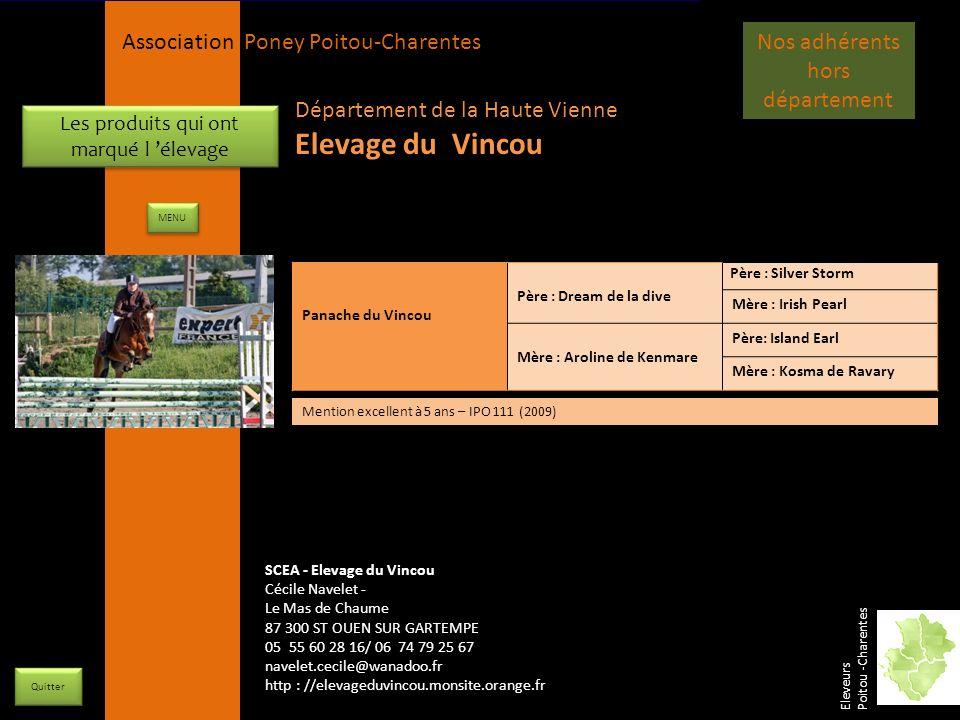 APPC Présidente Lynda JOURDAIN La Gravière 79400 AUGE 06 27 34 23 78 Association Poney Poitou-Charentes Les produits qui ont marqué l élevage Quitter