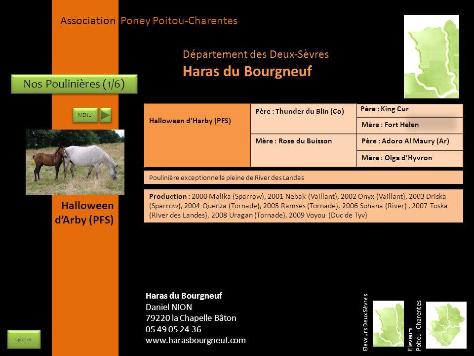 APPC Présidente Lynda JOURDAIN La Gravière 79400 AUGE 06 27 34 23 78 Association Poney Poitou-Charentes Nos Poulinières (1/6) Halloween dHarby (PFS) P