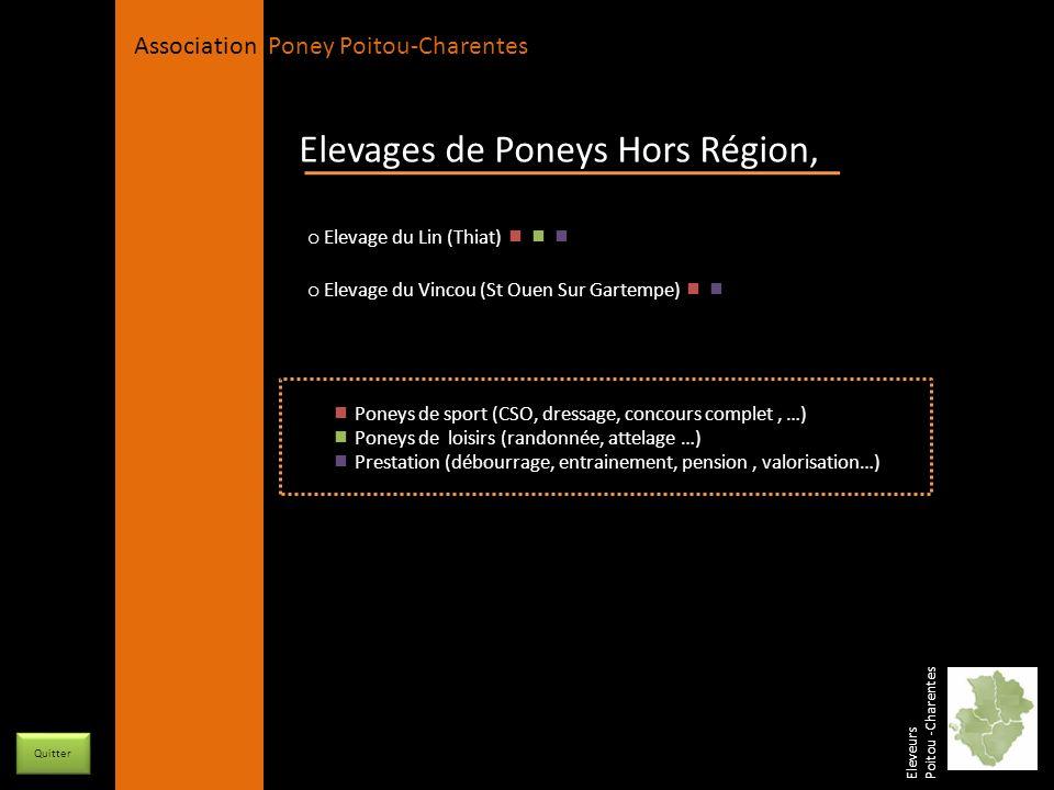 APPC Présidente Lynda JOURDAIN La Gravière 79400 AUGE 06 27 34 23 78 Association Poney Poitou-Charentes Orientation : Poneys de sport et prestations Races élevées : Poneys Français de Selle C, Welsh K, B et C Nombre de poulinières : 3 Etalons : 1 (2 en 2011) Département de la Vienne Relais Equestre des Cognées Berengère PLACE-ERRANT 2 lieu dit « les Cognées » 05 49 53 64 50 / 06 72 18 20 98 86 470 BENASSAY berengere.place-errant@orange.fr www.myspace.relaisequestredescognée Elevage en Vienne Eleveurs Poitou -Charentes Nos poulinières En savoir plus … Le Relais Equestre des Cognée est un jeune élevage familial.Notre ambition est de sélectionner des poneys pour la compétition, gentils avec de bonnes capacités en saut, utilisables par des enfants.
