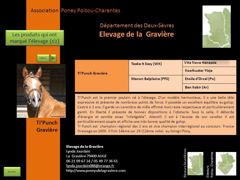 APPC Présidente Lynda JOURDAIN La Gravière 79400 AUGE 06 27 34 23 78 Association Poney Poitou-Charentes Les produits qui ont marqué lélevage (1/2) TiP