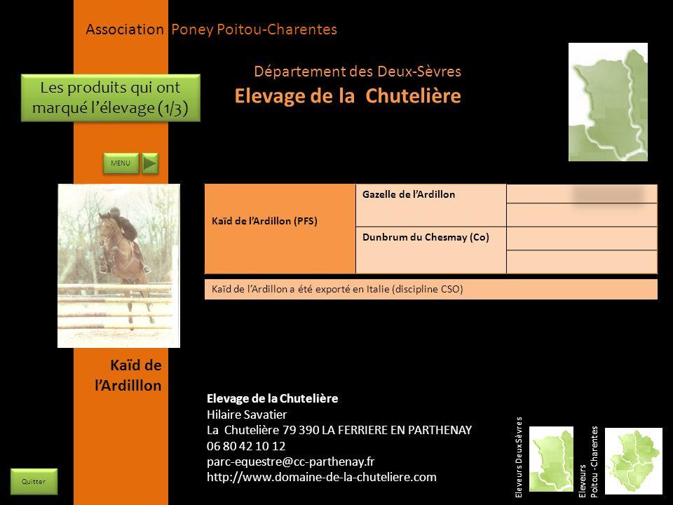 APPC Présidente Lynda JOURDAIN La Gravière 79400 AUGE 06 27 34 23 78 Association Poney Poitou-Charentes Les produits qui ont marqué lélevage (1/3) Ele