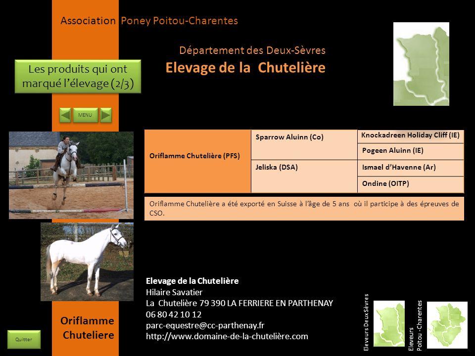 APPC Présidente Lynda JOURDAIN La Gravière 79400 AUGE 06 27 34 23 78 Association Poney Poitou-Charentes Les produits qui ont marqué lélevage (2/3) Ele