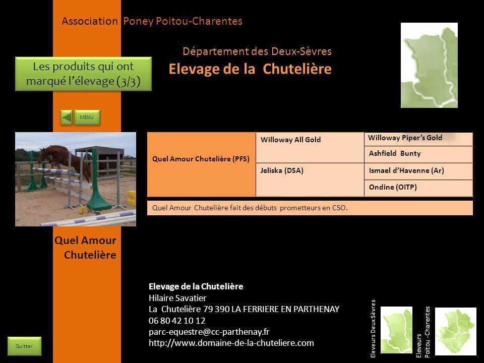 APPC Présidente Lynda JOURDAIN La Gravière 79400 AUGE 06 27 34 23 78 Association Poney Poitou-Charentes Les produits qui ont marqué lélevage (3/3) Ele