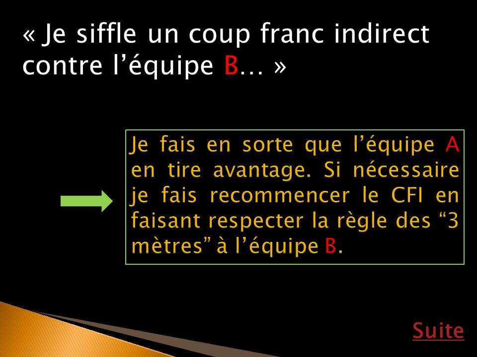 Suite « Je siffle un coup franc indirect contre léquipe B… »