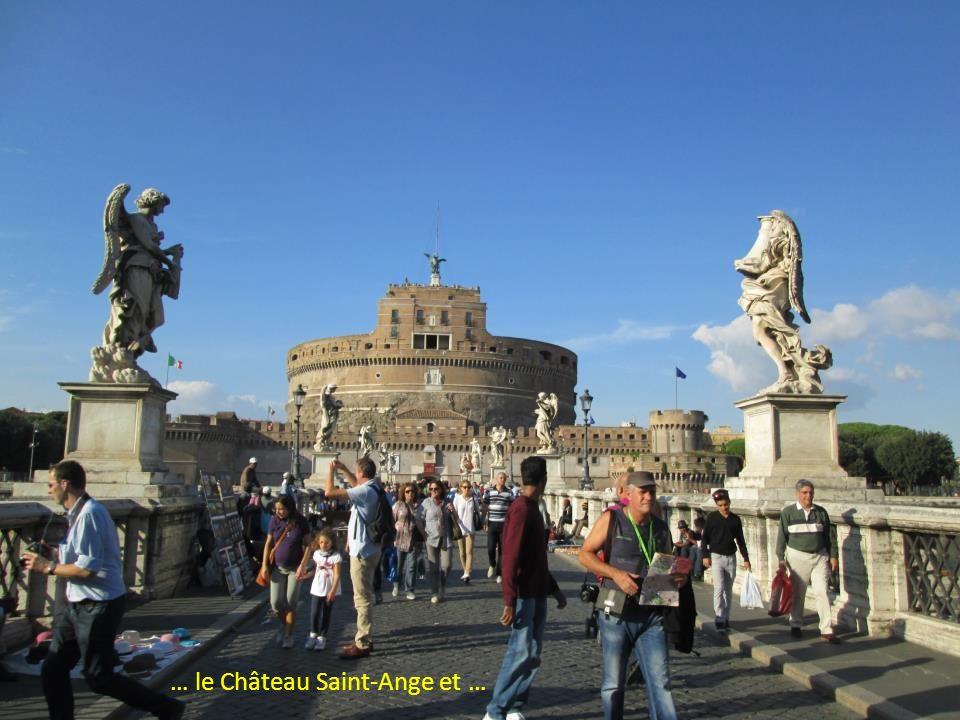 Promenade du Château Saint-Ange à la Place de Venise en passant par … … Sainte Catherine de Sienne …