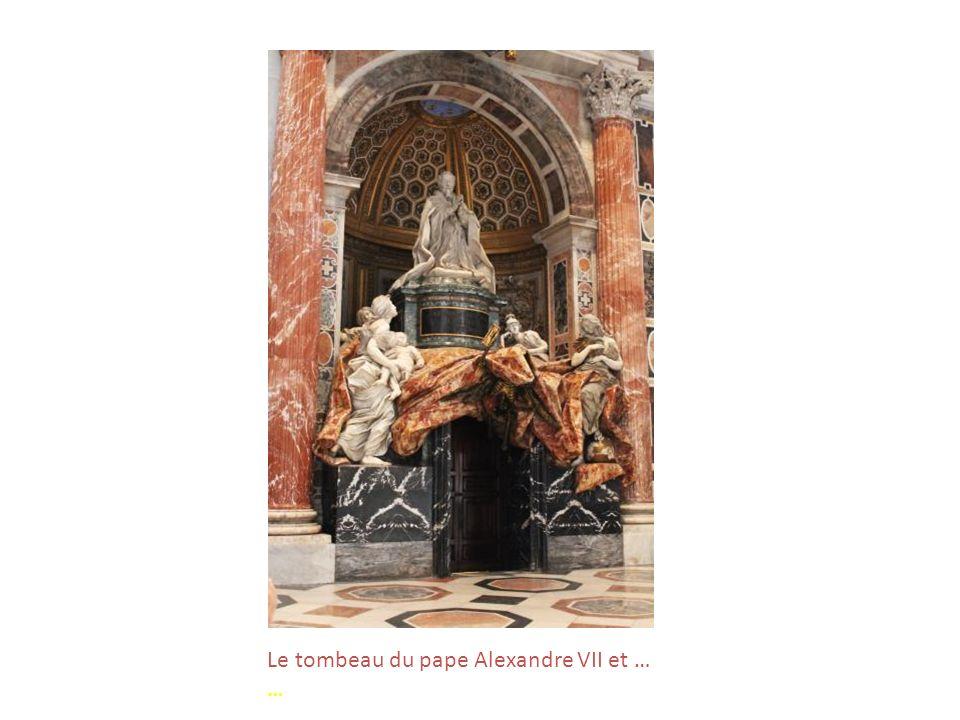 Sainte Véronique, de Francesco Mochi (1640), dans la niche dun des 4 piliers centraux … nous apprend notre guide hautement qualifiée !