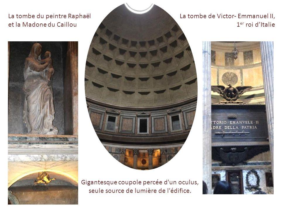 Le Panthéon, temple païen transformé en église en 609