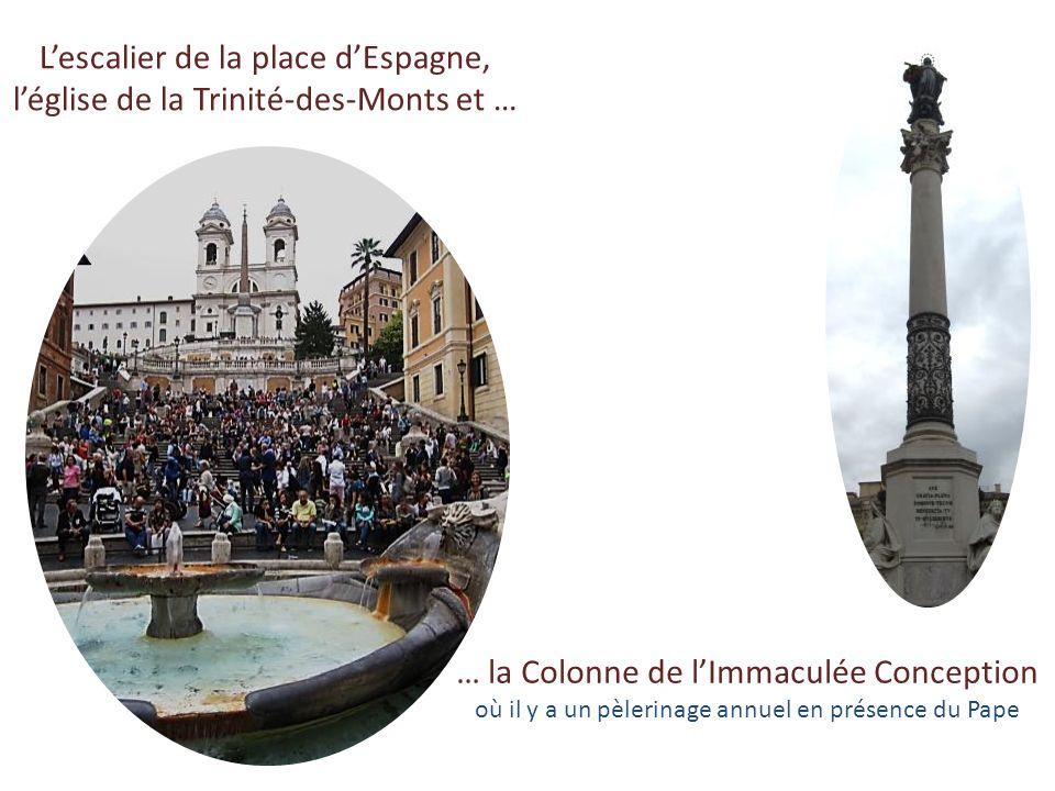La fontaine de Trevi adossée au Palais Poli (tre vie = trois rues ) … ceux qui jettent une pièce de monnaie sont certains de revenir un jour à Rome !!
