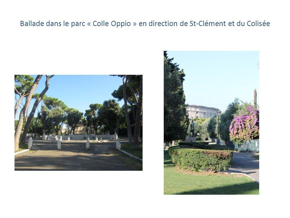 Visites * La Basilique Saint-Clément * Le Colisée * Le Forum Romain * Le Capitole Déjeuner chez les Sœurs de Sainte-Anne Promenade dans le centre Dîne