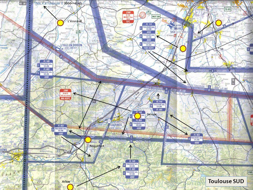 Toulouse SUD Gensac Roquefort Lécureuil Arbas TMA 4.8 Toulouse E 3000<<FL65