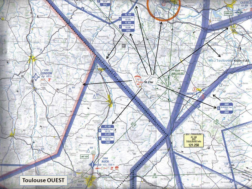 Toulouse OUEST St Clar TMA 2 Toulouse C 4000<<FL65