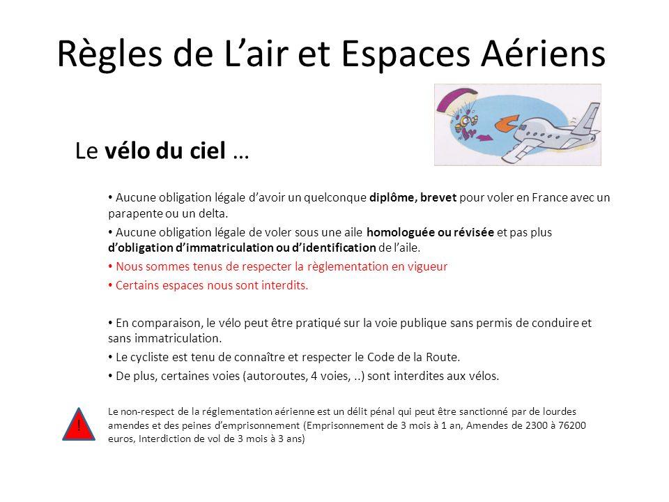 Le vélo du ciel … Aucune obligation légale davoir un quelconque diplôme, brevet pour voler en France avec un parapente ou un delta.