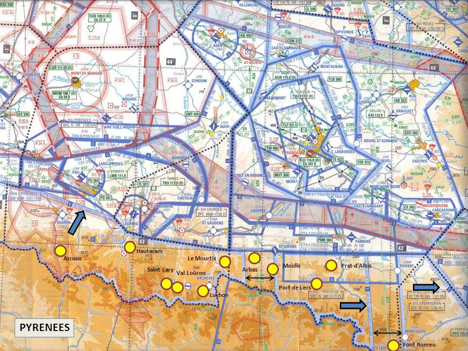 PYRENEES Font Romeu Le Mourtis Prat dAlbis Port de Lers Moulis Arbas Luchon Val Louron Saint Lary Hautacam Accous