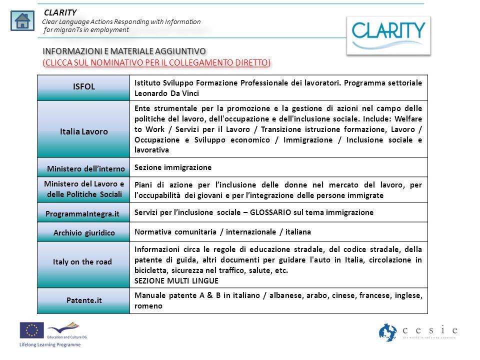 CLARITY Clear Language Actions Responding with Information for migranTs in employment Chaque jour durant l année 2010, a eu lieu 567 accidents en moyenne avec des blessures aux personnes.