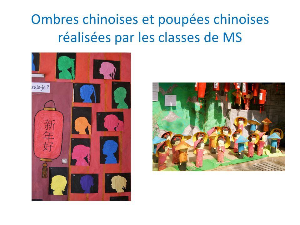 Ombres chinoises et poupées chinoises réalisées par les classes de MS
