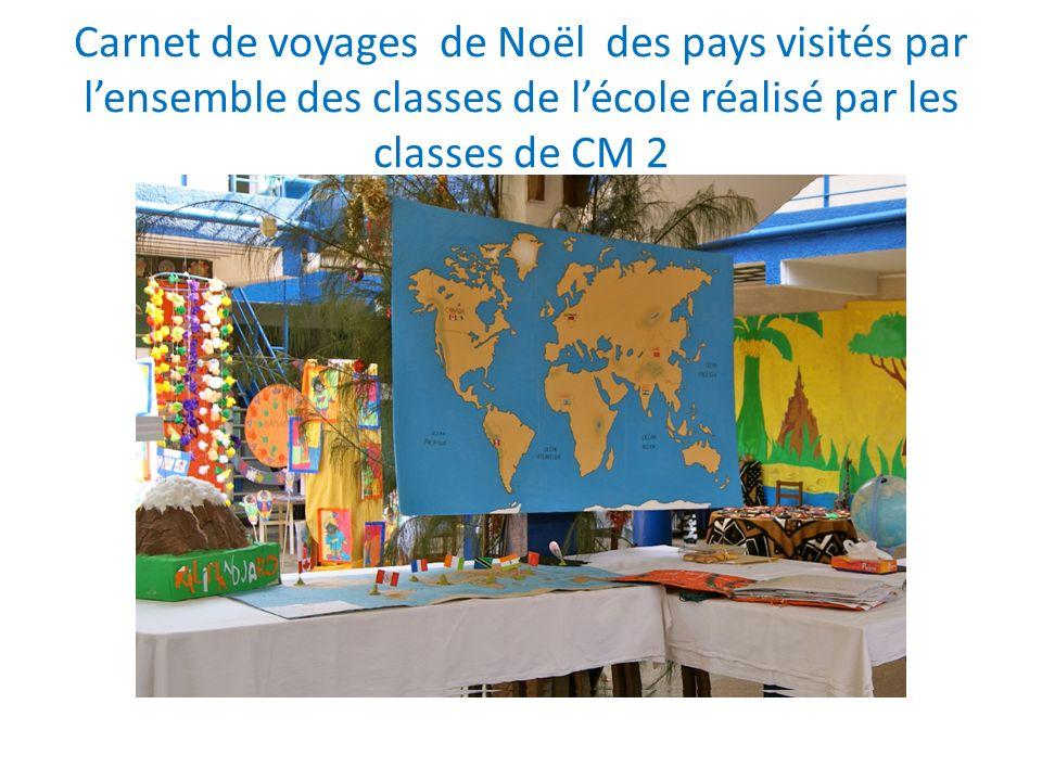Carnet de voyages de Noël des pays visités par lensemble des classes de lécole réalisé par les classes de CM 2 Le Canada La Chine LInde