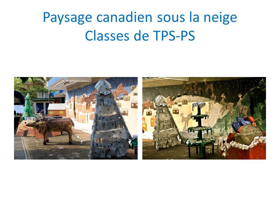 Paysage canadien sous la neige Classes de TPS-PS