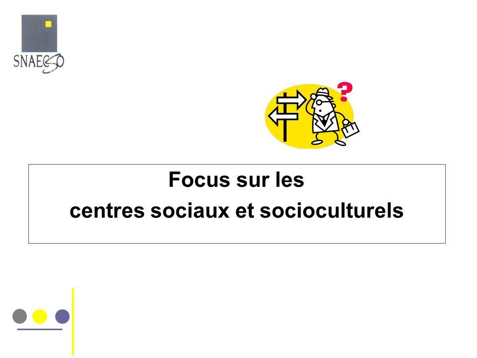 Focus sur les centres sociaux et socioculturels