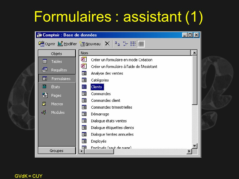 GVdK = CUY Formulaires : assistant (1)