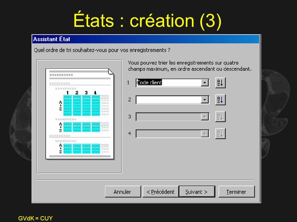 GVdK = CUY États : création (3)