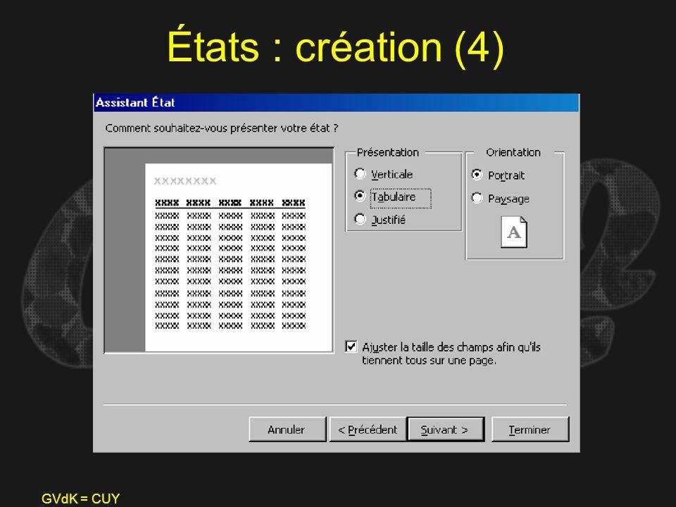 GVdK = CUY États : création (4)