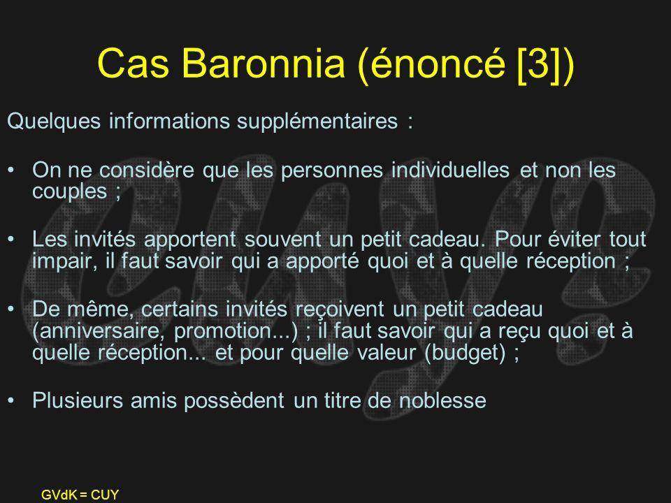 GVdK = CUY Cas Baronnia (énoncé [3]) Quelques informations supplémentaires : On ne considère que les personnes individuelles et non les couples ; Les