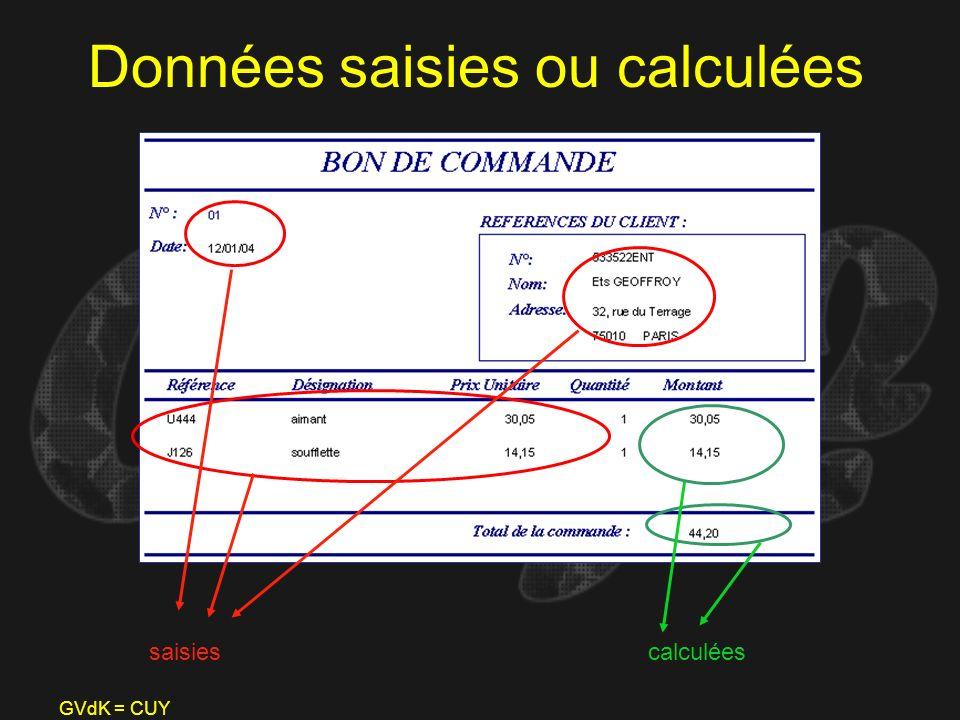 GVdK = CUY Données saisies ou calculées saisiescalculées