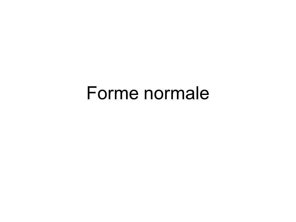Forme normale