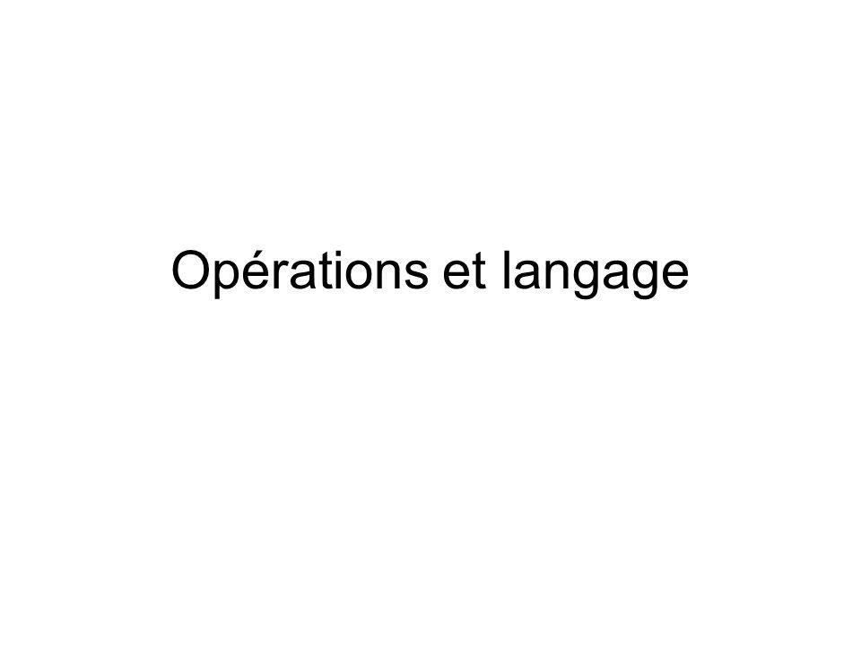 Opérations et langage