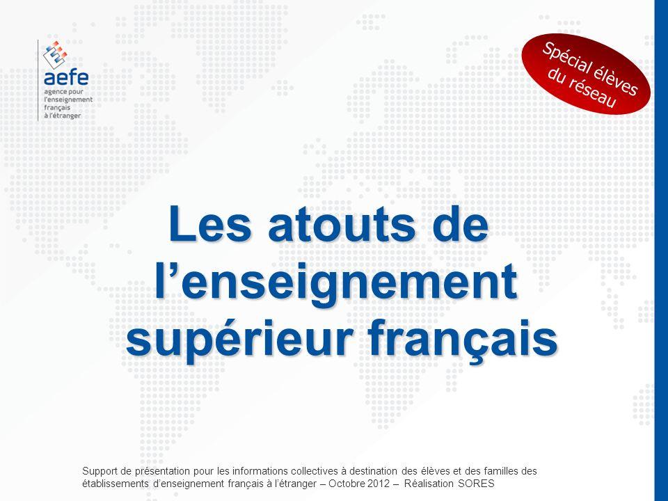 Les atouts de lenseignement supérieur français Support de présentation pour les informations collectives à destination des élèves et des familles des
